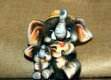 Tapeta sloni z porcelánu