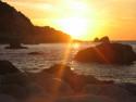 Tapeta Slunce nad mořem