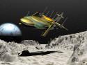 Tapeta Space Landing