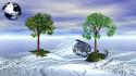 Tapeta stromy v antarktide