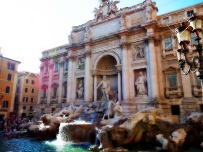 Tapeta: the Trevi fountain