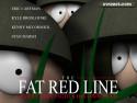 Tapeta Tlustá červená linie