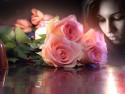 Tapeta Tvář s růžemi