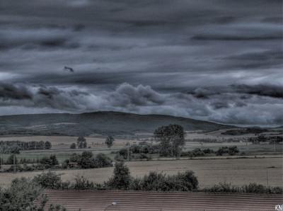 Tapeta: Uničov - pohled z okna