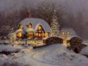 Tapeta vánoční krajina