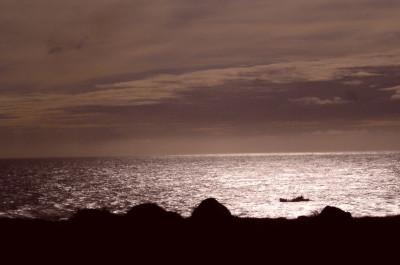 Tapeta: Večer na pobřeží