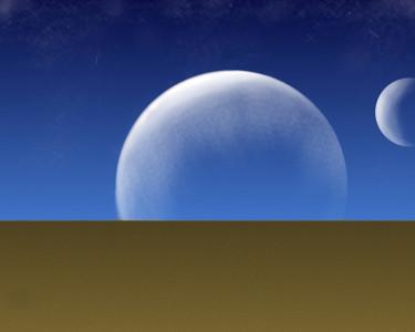 Tapeta: Vesmír nad pouští