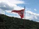 Tapeta Vlajka ve větru
