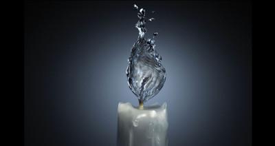 Tapeta: vodní plamen svíčka