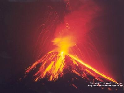 Tapeta: Vulkán Arenal 1