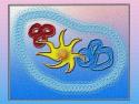 Tapeta yellow-blue-red