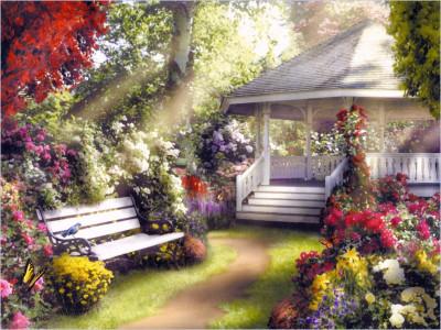 Tapeta: Zahradní domeček