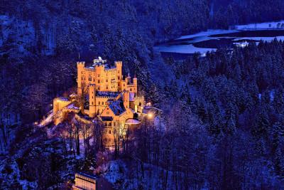 Tapeta: Zámek Hohenschwangau, Německo
