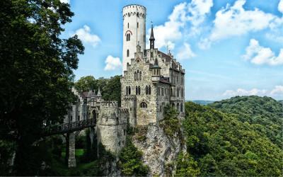 Tapeta: Zámek Lichtenstein, Německo
