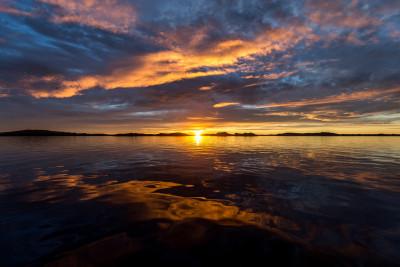 Tapeta: Západ slunce, Sotra,