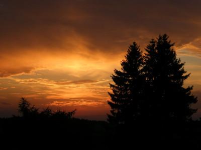 Tapeta: Zapad Slunce na Vysocine