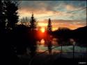 Tapeta západ slunce nad rybníkem cze