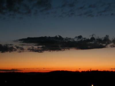 Tapeta: západ slunce Petrovice