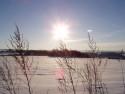 Tapeta západ slunce v zimě