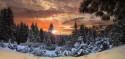 Tapeta Západ slunce Yosemity