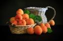 Tapeta zátiší s meruňkami