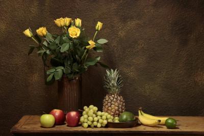 Tapeta: zátiší s růžemi