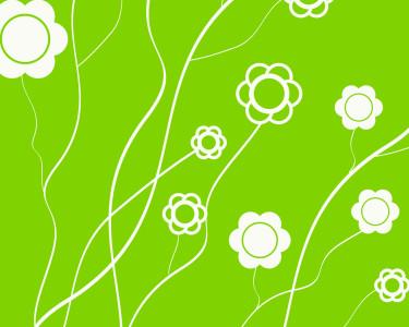 Tapeta: Zelená - Kytičky