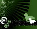 Tapeta Zelení koně