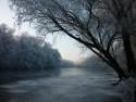 Tapeta Zimní řeka 2
