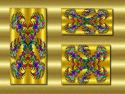 Tapeta zlaté arabesky