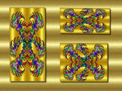 Tapeta: zlaté arabesky