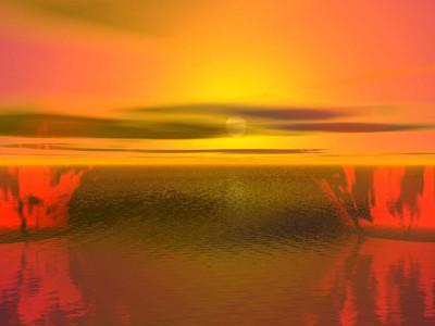 Tapeta: Žlutá záře